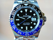 ROLEX GMT MASTER II CERAMIC BLACK & BLUE on JUBILEE, 126710 BLNR