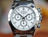 Rolex Daytona Cosmograph White Dial on Oyster Bracelet Steel 40mm