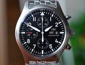 IWC Pilots Chronograph Fliegeruhr Steel w Bracelet & Strap 42mm