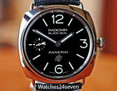 Panerai PAM 380 Radiomir Steel Black Seal Logo Dial 45mm