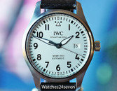 IWC Pilots Mark XVIII Automatic Silver/White Dial 40mm