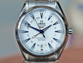 Omega Seamaster Aqua Terra  GMT 150m Mast. Co-Axial Good Planet 43.5mm