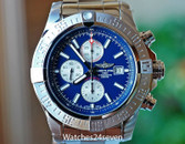 Breitling Super Avenger II Chronograph Mariner Blue Dial Steel 48mm