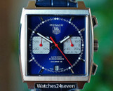 Tag Heuer Monaco Automatic Chronograph Caliber 12 Blue Dial 39mm