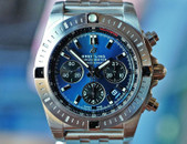 Breitling Chronomat B01 Blue Dial Black Subdials Steel on Bracelet 44mm