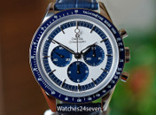 Omega Speedmaster Chronograph CK2998 Silver & Navy LTD 40mm