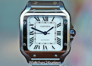 Cartier Santos De Cartier Automatic Silver Dial Steel & Yellow Gold 35.1mm