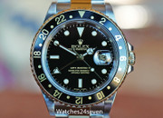 Rolex Master GMT II Two Tone Stainless & Yellow Gold Black Dial 40mm