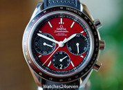 Omega Speedmaster Racing Chronograph Automatic Red Dial 40mm