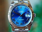 Rolex Datejust 41 Blue Roman Dial on Jubilie Bracelet 41mm