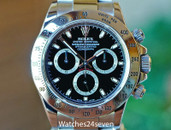 Rolex Daytona Chronograph Stainless Steel Black Dial 40mm Ref. 116520