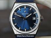 Zenith Defy Classic Titanium Sport Watch Blue Dial 41mm