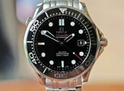 Omega Seamaster 300 Co-Axial Black Ink Dial Steel 41mm