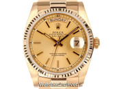 Rolex President Day-Date Champagne Dial 18k Yellow Gold 36mm