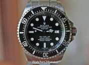 Rolex Deepsea Sea-Dweller Ceramic Bezel Black Dial Steel 44mm