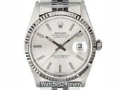 Rolex Oyster Perpetual Datejust Silver Dial Dial 36mm