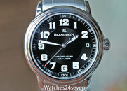 Blancpain Leman Hundred Hours Military Black Dial 38mm