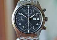 IWC Fliegerchronograph Stainless Steel Black Dial 39mm