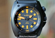 Bell & Ross Automatic 1000 Meter Diver Black & Orange 44mm