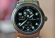 Blancpain Laman Double Time Zone Black Military Dial 38mm