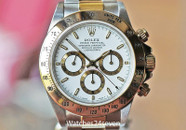 Rolex Daytona Cosmograph Steel & Gold White Dial 40mm Ref. 16523