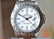 Rolex Explorer II GMT Red Hand White Dial 40mm Ref. 16570 W