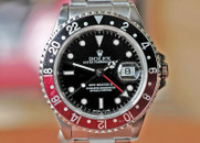 Rolex GMT Master II Automatic Date w Black/Red Bezel 40mm Ref. 16710