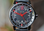 BRM V6 Automatic Shock Absorber Black & Red Dial PVD 44mm