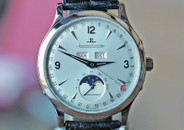 Jaeger LeCoultre Master Moon Silver Dial Steel 37mm