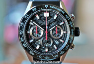 Tag Heuer Carrera Skeleton Chronograph Ceramic  45mm ON HOLD