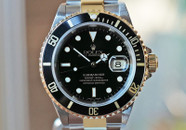 Rolex Submariner Automatic Date Two Tone Black Dial 40mm Ref. 16613