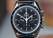Omega Speedmaster Moonwatch Chronograph Steel on Strap 42mm