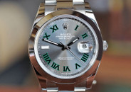 Rolex Datejust 41 Slate Grey Green Outlined Roman Numerals Steel Ref. 126300