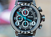 BRM V12 AUTOMATIC DATE CHRONOGRAPH BLACK BLUE TEAL 44mm