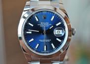 Rolex Datejust 41 Midnight Blue Stick Dial Oyster Bracelet 40mm