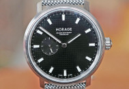 Horage Multiply Small Seconds Steel Black Textured Dial 41mm