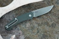 GiantMouse Ace Iona Green Aluminum Folding Knife