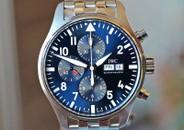 IWC Pilot's Chronograph Petit Prince Blue Dial on Bracelet 43mm