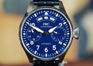 IWC Big Pilot Annual Calendar Blue Dial 150 Years LTD 46mm