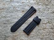 Panerai OEM Rubber Dive Strap Black Standard for Deployant 24mm