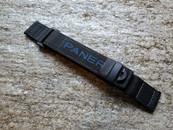PANERAI OEM TEXTIL DIVE STRAP BLACK WITH BLUE LETTERING VELCRO EXTRA LONG LENTH