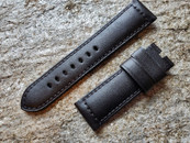 PANERAI OEM DIVE STRAP CALF RUGBY BLACK STANDARD FOR DEPLOYANT 24MM