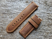 PANERAI OEM DIVE STRAP CALF ASSOLUTAMENTE DARK BROWN FOR TANG BUCKLE 26MM