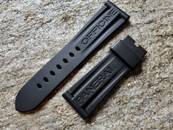 PANERAI OEM RUBBER DIVE STRAP CAOUTCHOU BLACK STANDARD FOR TANG BUCKLE 26MM