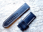 PANERAI OEM DIVE STRAP CALF VINTAGE BLACK FOR TANG BUCKLE 26MM