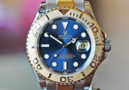Rolex Yachtmaster Two Tone Blue Dial Oyster Bracelet 40mm
