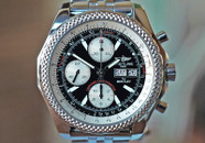 Breitling Bentley GT Chronograph Black Panda Dial Steel 44.8mm ON HOLD