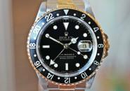 Rolex GMT Master II Two Tone Black Dial Jubilee Bracelet Ref. 16713