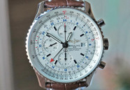 Breitling Navitimer World GMT Chronograph Silver Dial 46mm ON HOLD