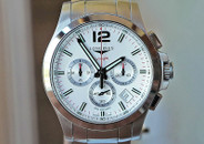 Longines Conquest VHP Chronograph Silver Dial on Bracelet 44mm